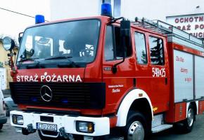 Sprowadzony z Niemiec, stał w garażu. Wóz OSP Sucha nareszcie ruszył do boju-7711
