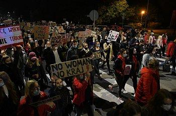 """""""Piekło kobiet"""". Protest w Tucholi 26.10.2020-2431"""